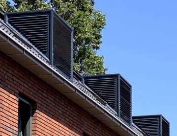 Warmtepomp-schoorsteen