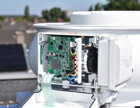 Pilot project met 'slimme' ventilatoren'